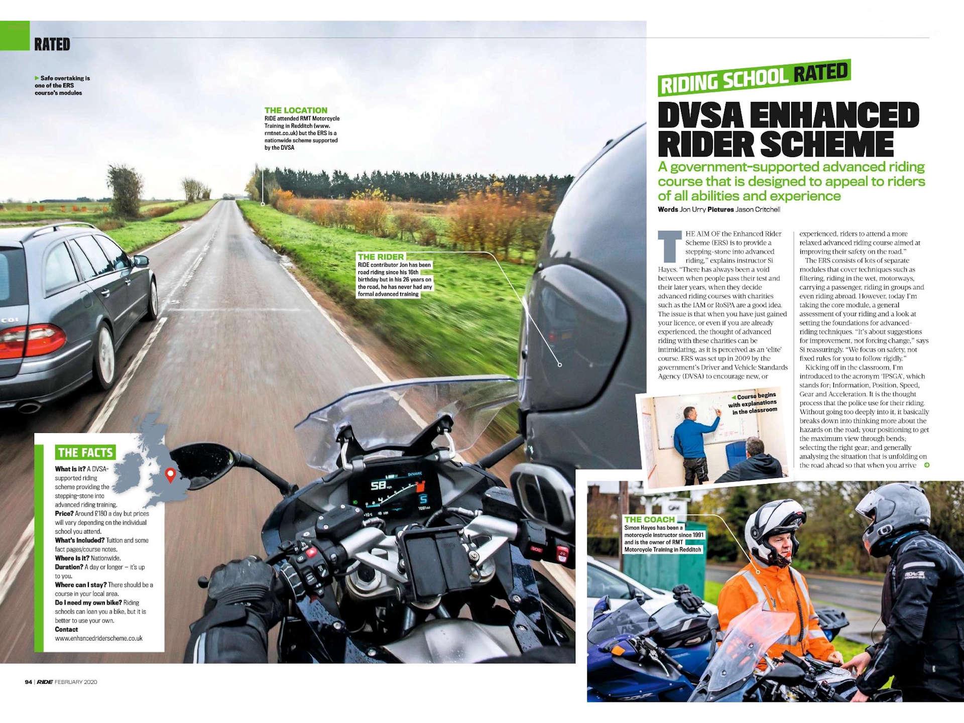 DVSA Enhanced Rider Scheme (1) Ride Magazine February 2020