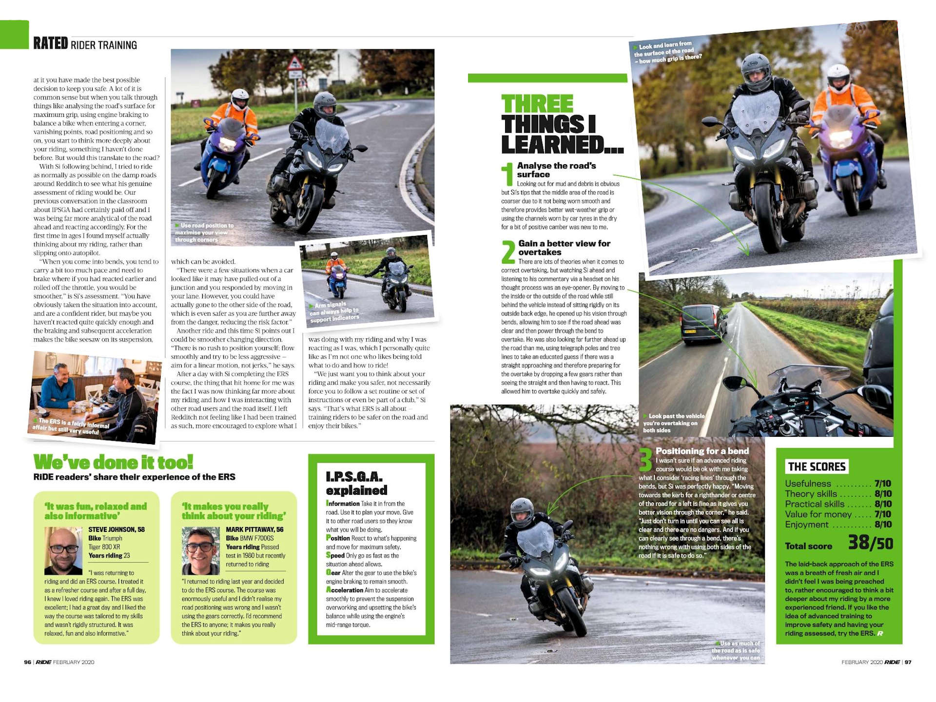 DVSA Enhanced Rider Scheme (2) Ride Magazine February 2020