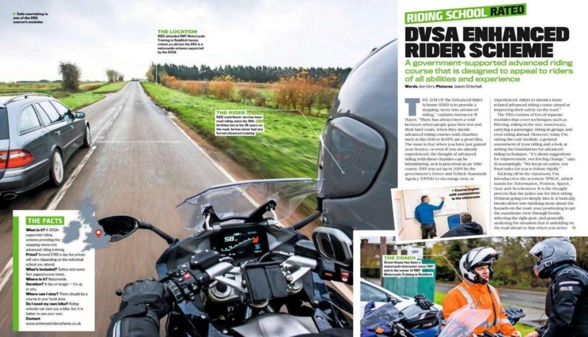DVSA Enhanced Rider Scheme Ride Magazine February 2020